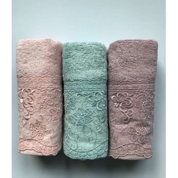 Набор полотенец для лица Sikel Bamboo Istanbul 30*50см бамбуковые банные 3шт арт.ts-01695