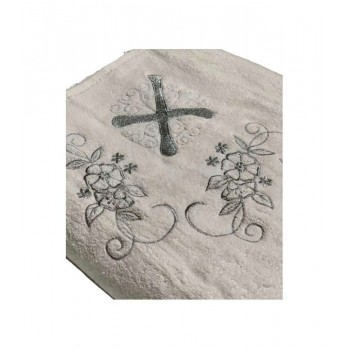 Крыжма для крещения Sikel 100*100 см махра серебро арт.ts-01211