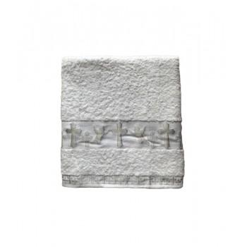 Крыжма для крещения Sikel Organic Cotton 70*140 см махра серебро арт.ts-01897