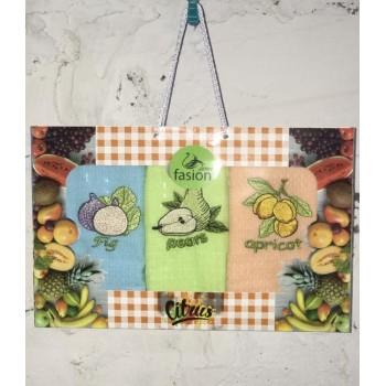 Набор полотенец для кухни Swan Fasion Citrus V01 40*60 см вафельные в коробке арт.ts-01448