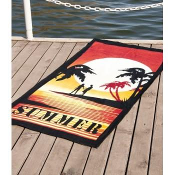 Полотенце пляжное Vende Summer велюр 75*150 см арт.ts-00084