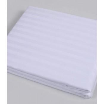 Простынь Zugo Home Hotel Line Stripe Евро 240*280 см сатин страйп белая арт.ts-01775