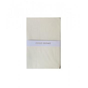 Простынь Zugo Home Basic полуторная 160*240 см ранфорс кремовая арт.ts-02078