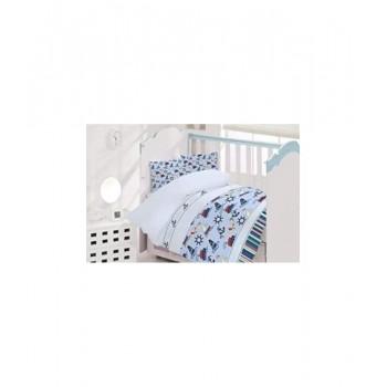 Комплект постельного белья в кроватку Brielle детский ранфорс 133V1 арт.TAC71239797