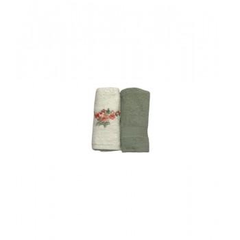 Набор полотенец для кухни Casabel 40*60 см махровые в коробке 2шт зеленый арт.TAC71247146