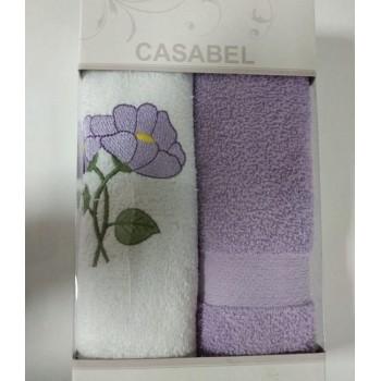 Набор полотенец для кухни Casabel 40*60 см махровые в коробке 2шт лиловый арт.TAC71247150
