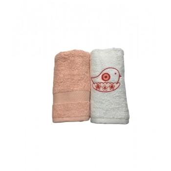 Набор полотенец для кухни Casabel 40*60 см махровые в коробке 2шт лососевый арт.TAC71247145