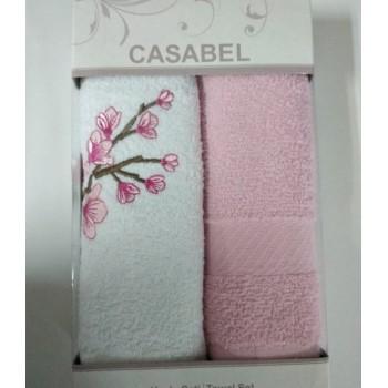 Набор полотенец для кухни Casabel 40*60 см махровые в коробке 2шт рожевый арт.TAC71247147