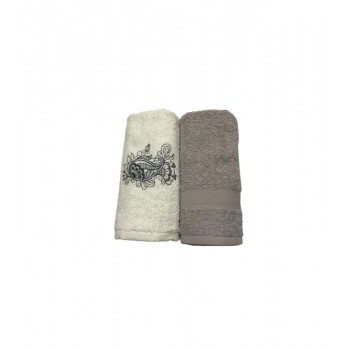 Набор полотенец для кухни Casabel 40*60 см махровые в коробке 2шт серый арт.TAC71247149