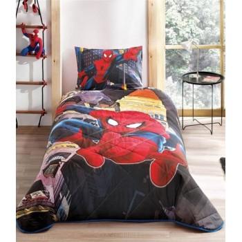 Покрывало с наволочкой Tac Disney Spiderman In City полуторное 160*220 см + наволочка 50*70 см хлопок подростковое арт.TAC60122789