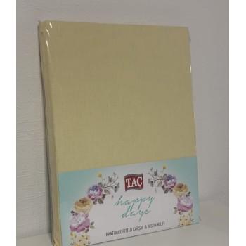Набор простынь Tac CRF Carsaf двуспальная 180*200 см + наволочки 50*70 см 2шт ранфорс желтый арт.TAC60121718