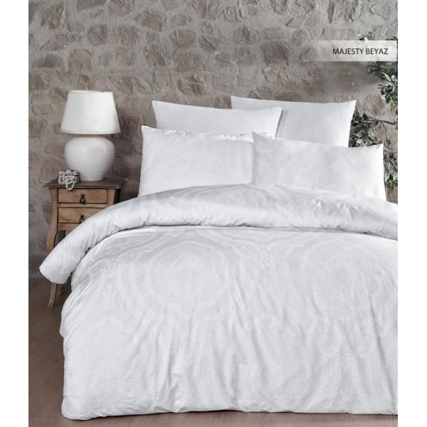 Комплект постельного белья Ecosse Ranforce полуторный ранфорс Majesty Beyaz
