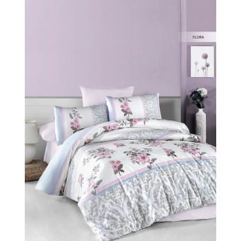 Комплект постельного белья Ecosse Ranforce семейный ранфорс арт.Flora