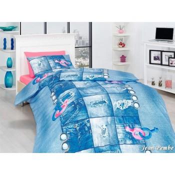 Комплект постельного белья First Choice Ranforce полуторный ранфорс подростковый арт.Jean Pembe