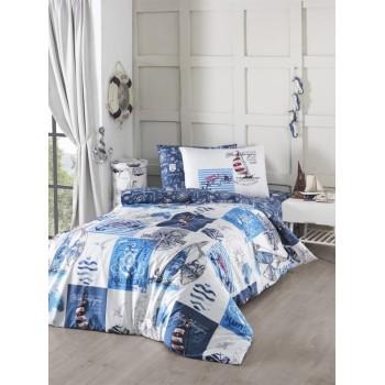 Комплект постельного белья First Choice Ranforce полуторный ранфорс подростковый арт.Sail