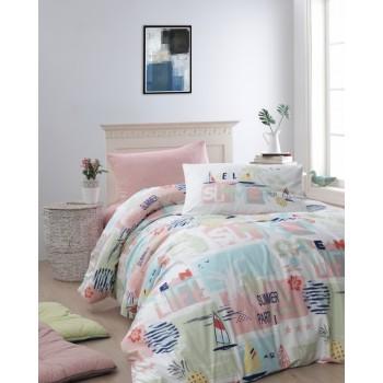 Комплект постельного белья First Choice Ranforce полуторный ранфорс подростковый арт.Summer Somon