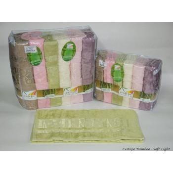 Набор полотенец для лица Cestepe Bamboo 50*90 см бамбуковые банные Soft Light