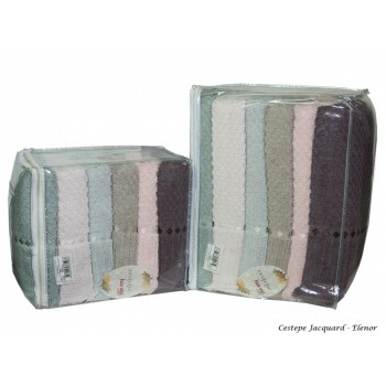 Набор полотенец для лица Cestepe MicroCotton Deluxe 50*90 см махровые банные Elenor Sacakli 6шт