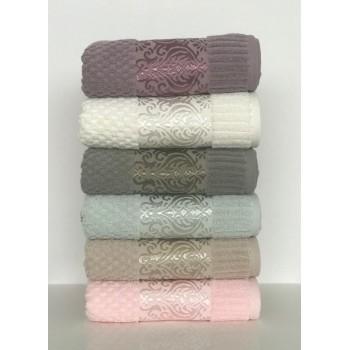 Набор полотенец для лица Cestepe MicroCotton Deluxe 50*90 см махровые банные Ella 6шт