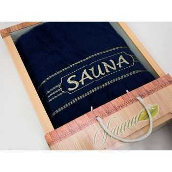 Полотенце для сауны Gulcan Sauna Cotton 100*170 см махрове Синий