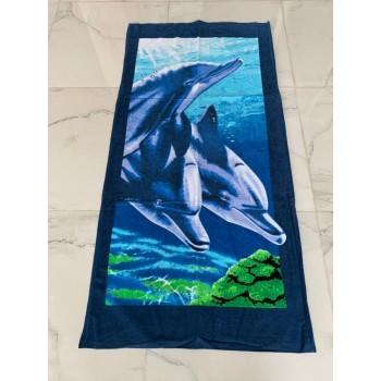Полотенце пляжное Турция Three-Dolphins 75*150 см