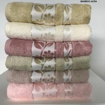 Набор полотенец для тела Cestepe Bamboo 70*140 см бамбуковые банные Acra 6шт