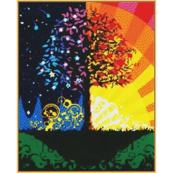 Алмазная вышивка Турбо Дерево счастья 40*50 см арт.ST224