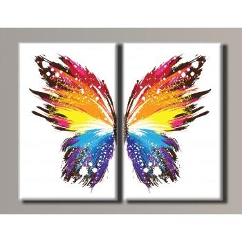 Картина модульная HolstArt Бабочка 88*110 см 2 модуля арт.HAD-015