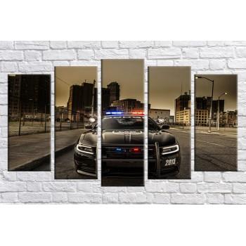 Картина модульная HolstArt Американская полиция 71*128 см 5 модулей арт.HAB-287