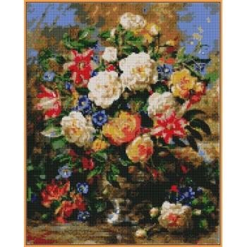 Алмазная вышивка Турбо Лилии и желтые розы 40*50 см арт.ST1052