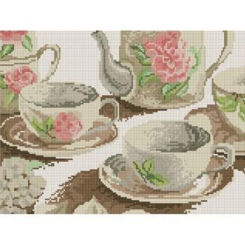 Алмазная вышивка Турбо Чайная церемония 30*40 см арт.EF076