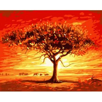 Картина по номерам ArtCraft Золотое солнце Африки 40*50 см арт.10507-AC