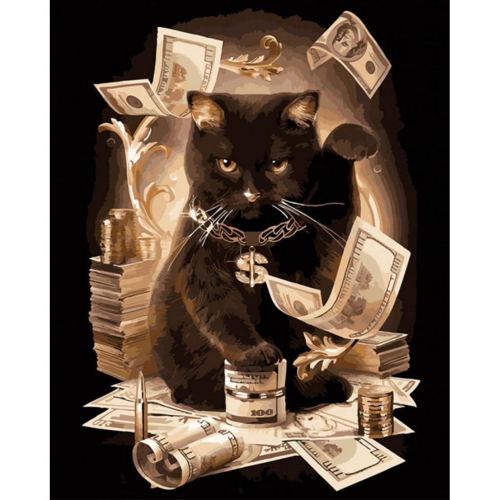 Купить Картина по номерам ArtCraft Состоятельный кот 40*50 ...