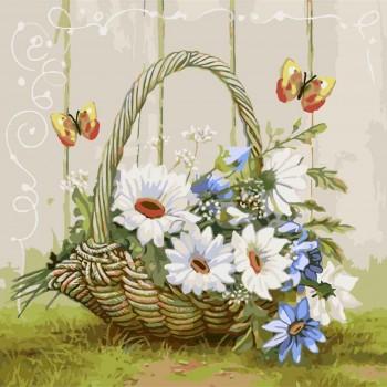 Картина по номерам Идейка Подарок из летнего сада 40*40 см (без коробки) арт.KHO2090