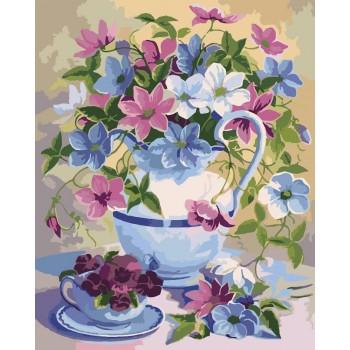 Картина по номерам Идейка Букет в лиловых тонах 40*50 см (без коробки) арт.KHO2049