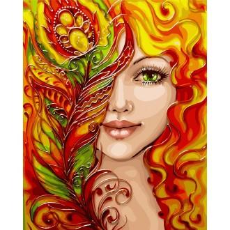 Картина по номерам Идейка Девушка-феникс 40*50 см (без коробки) арт.KHO4599