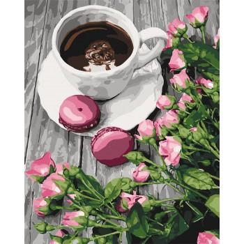 Картина по номерам Идейка Романтический кофе 40*50 см (без коробки) арт.KHO5559