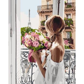 Картина по номерам Идейка Из Парижа с любовью 40*50 см арт.KH4567