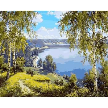 Картина по номерам Babylon Родной край 40*50 см (в коробке) арт.VP960