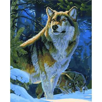 Алмазная картина по номерам Rainbow Art Гордый волк 40*50 см арт.GZS1029