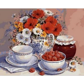 Картина по номерам Mariposa Приглашение на чай 40*50 см (в коробке) арт.MR-Q363