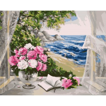 Картина по номерам Идейка Букет у моря 40*50 см арт.KHO2072