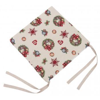 Подушка на табурет LiMaSo Игрушечный звездопад 43*43 см гобеленовая новогодняя арт.EDEN155-PS.43х43