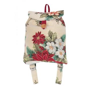 Рюкзачок Limaso Рождественский букет 25*37*6см гобеленовый новогодний арт.EDEN481-RD.25х37х6