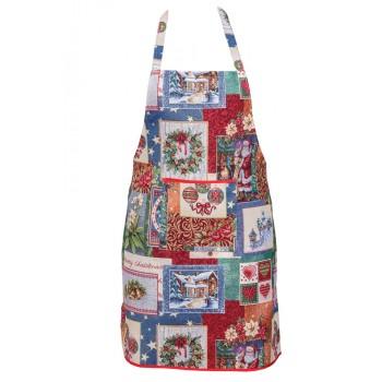 Фартук для кухни LiMaSo Merry Christmas 60*85см гобеленовый новогодний арт.EDEN483-FR.60х85