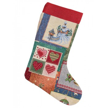 Сапожок для подарков LiMaSo Merry Christmas 25*37 см гобеленовый новогодний арт.EDEN483-CH.25х37