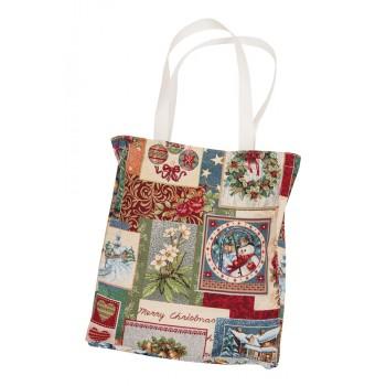 Сумка для покупок Limaso Merry Christmas 35*40см гобеленовая новогодняя арт.EDEN483-SM.35х40