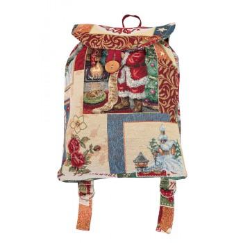 Рюкзачок Limaso Merry Christmas 25*37*6см гобеленовый новогодний арт.EDEN483-RD.25х37х6