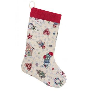Сапожок для подарков LiMaSo Рождественские мечты 25*37 см гобеленовый новогодний арт.EDEN014-CH.25х37