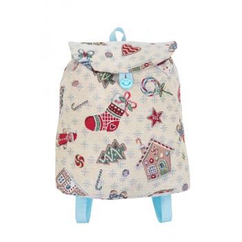 Рюкзачок Limaso Рождественские мечты 25*37*6см гобеленовый новогодний арт.EDEN014-RD.25х37х6